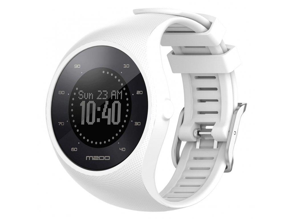 White sport silicone wristband straps for pola variants 0