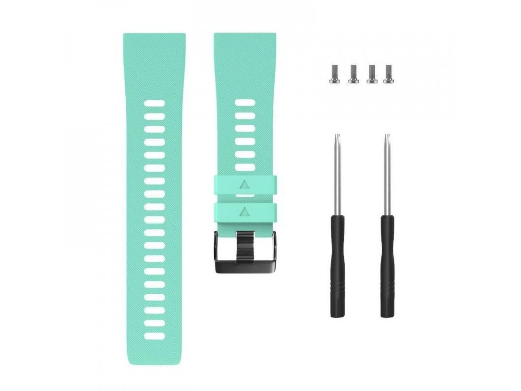 Blue green silicone watch strap for forerunner 35 w variants 9