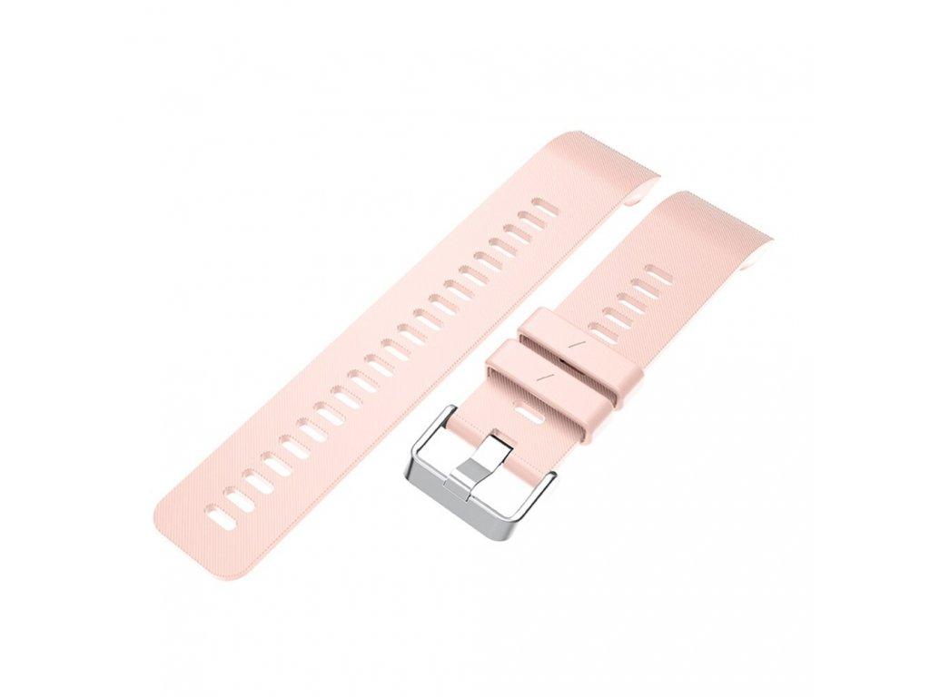 Pink silicone wrist strap for garmin forerunn variants 12