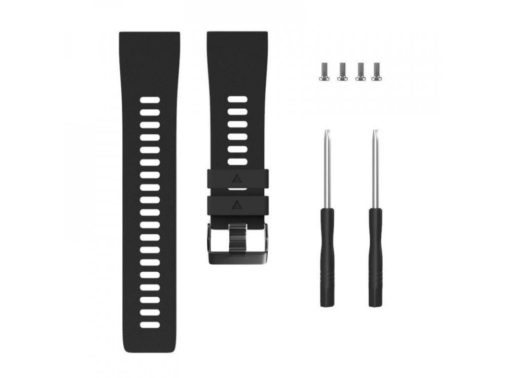 Black silicone watch strap for forerunner 35 w variants 6