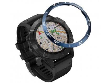 Ochranná luneta kroužek Garmin Fenix 6 modrá