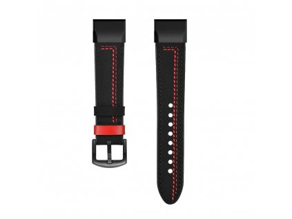 Kožený řemínek REDLINE pro Garmin Fenix 26mm - černý EASYFIT/QUICKFIT