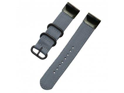 Nylonový řemínek pro Garmin Fenix 22 mm FOREST šedý EASYFIT/QUICKFIT