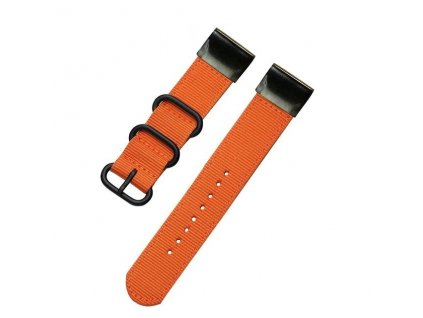 Nylonový řemínek pro Garmin Fenix 22 mm FOREST oranžový EASYFIT/QUICKFIT