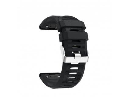 Silikonový gumový řemínek pro Garmin Fenix 26 mm soft černý EASYFIT/QUICKFIT