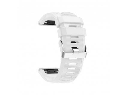 Silikonový gumový řemínek pro Garmin Fenix 26 mm soft bílý EASYFIT/QUICKFIT