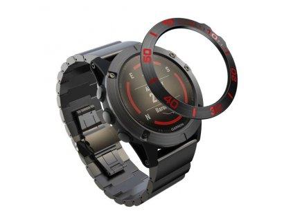 Ochranná luneta kroužek Garmin Fenix 5X červená