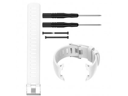 White sport silicone replacement watch band wa variants 0