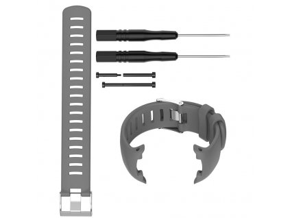 Gray sport silicone replacement watch band wa variants 2