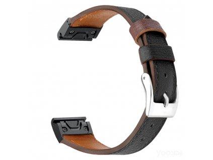 Black fenix 6 s leather women wristband 20 mm qu variants 0