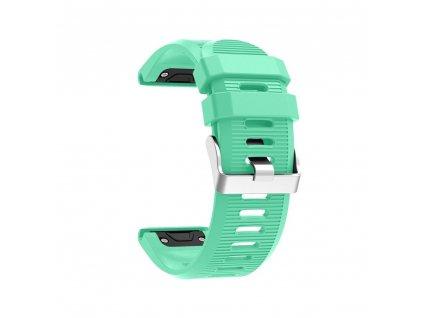 Silikonový gumový řemínek pro Garmin Fenix 26 mm soft tyrkysový EASYFIT/QUICKFIT