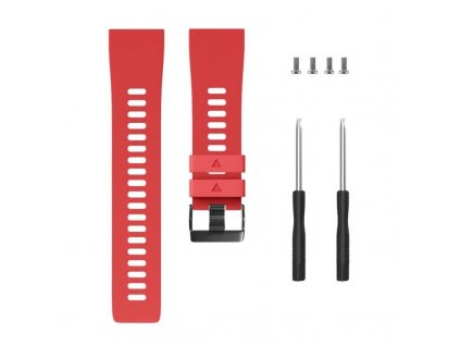 Red silicone watch strap for forerunner 35 w variants 8