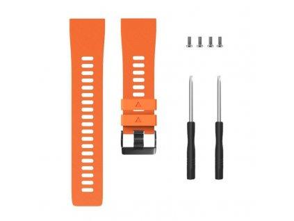 Orange silicone watch strap for forerunner 35 w variants 5