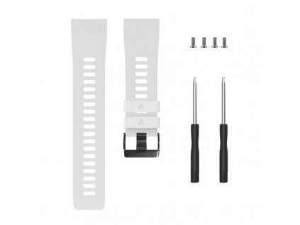 White silicone watch strap for forerunner 35 w variants 3