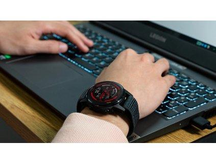 hook look nylon watchband 26 mm for gar main 0
