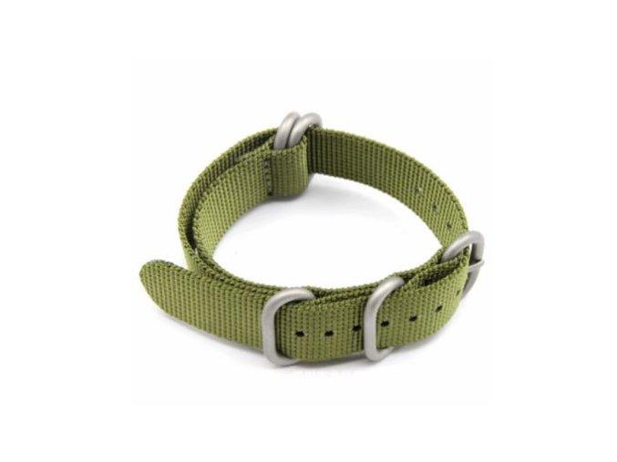 Nylonový bezúchytový řemínek pro Garmin Fenix 26 mm zelený
