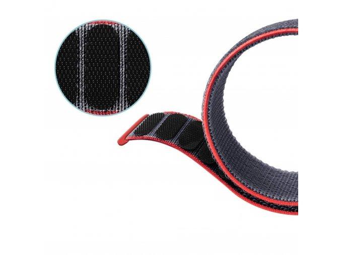 Nylonový řemínek pro Garmin Fenix 26 mm SPORT červený EASYFIT/QUICKFIT