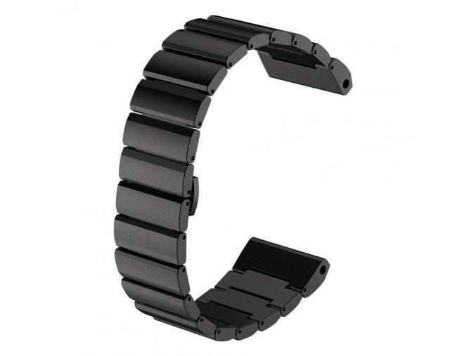 Ocelový kovový řemínek pro Garmin Fenix 3/5X 26 mm černý
