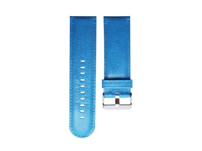 Kožený řemínek pro Garmin Fenix 3/5X 26 mm smooth modrý