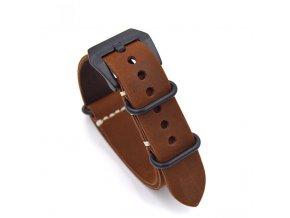 Kožený bezúchytový pro Garmin Fenix 26mm hnědý