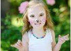 Barvy a třpytky na obličej