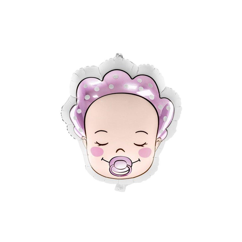 Balonek miminko holčička fóliový hlava