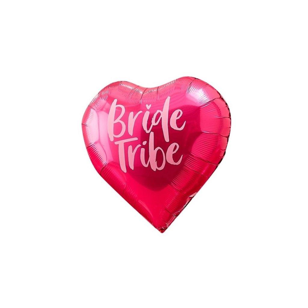 BALÓNKY fóliové Bride Tribe-3 ks růžové, 2 ks duhové