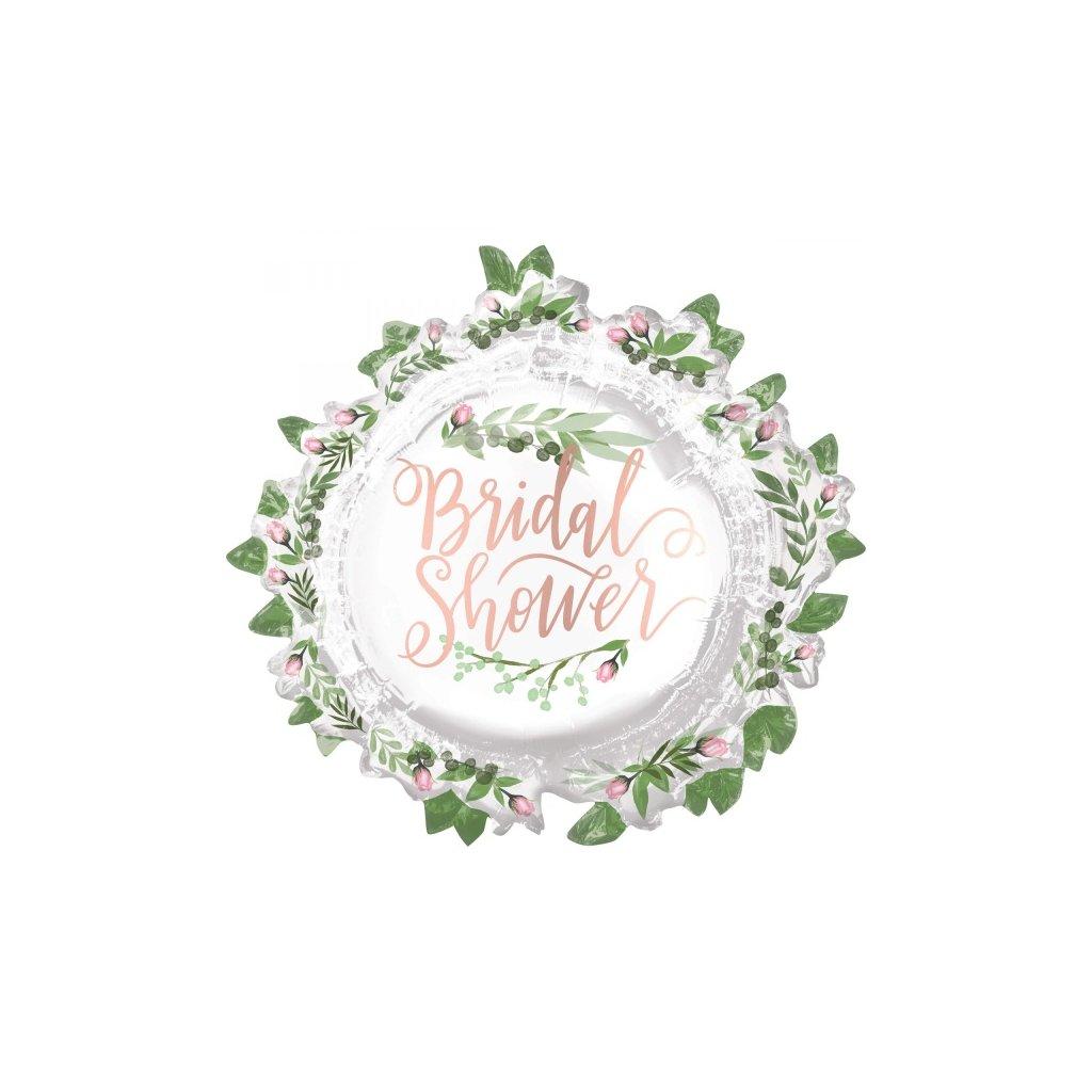 Balonek foliový supershape Bridal Shower s kvítky 76 cm