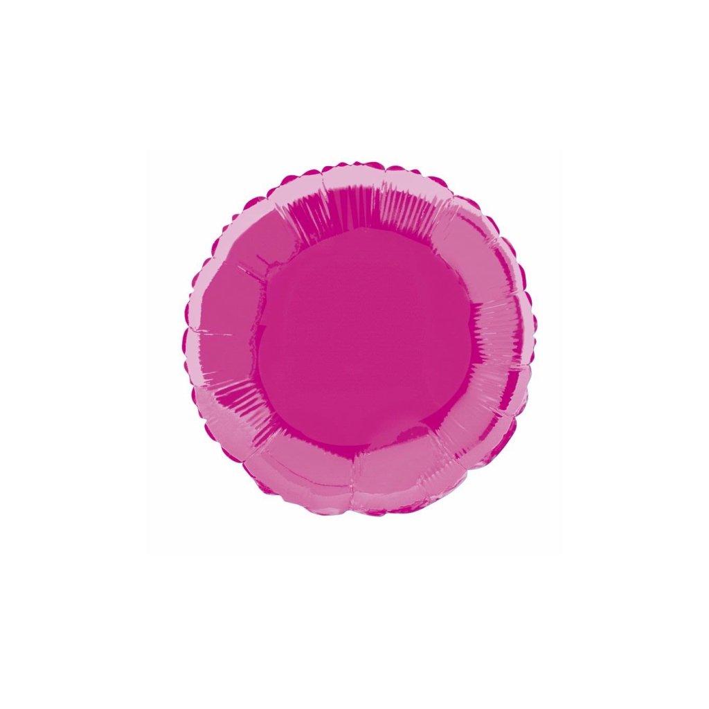 BALÓNEK fóliový kruh Hot pink
