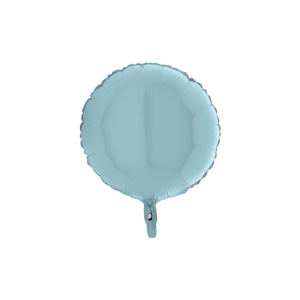 BALÓNEK fóliový kruh pastelový modrý