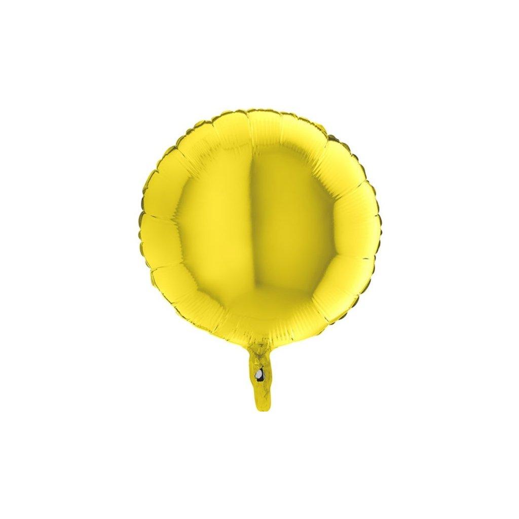 Balon kruhový foliový žlutý 46 cm