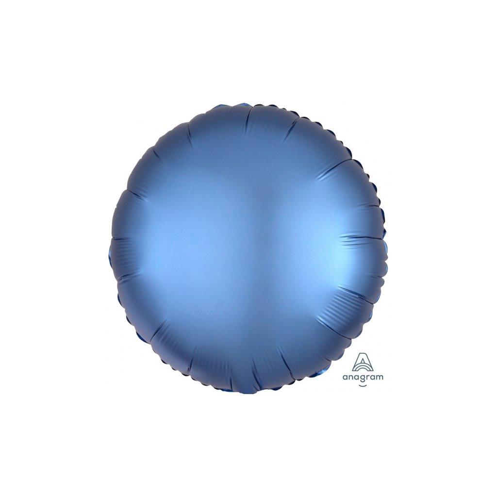 Balon kruhový foliový azurový 43 cm