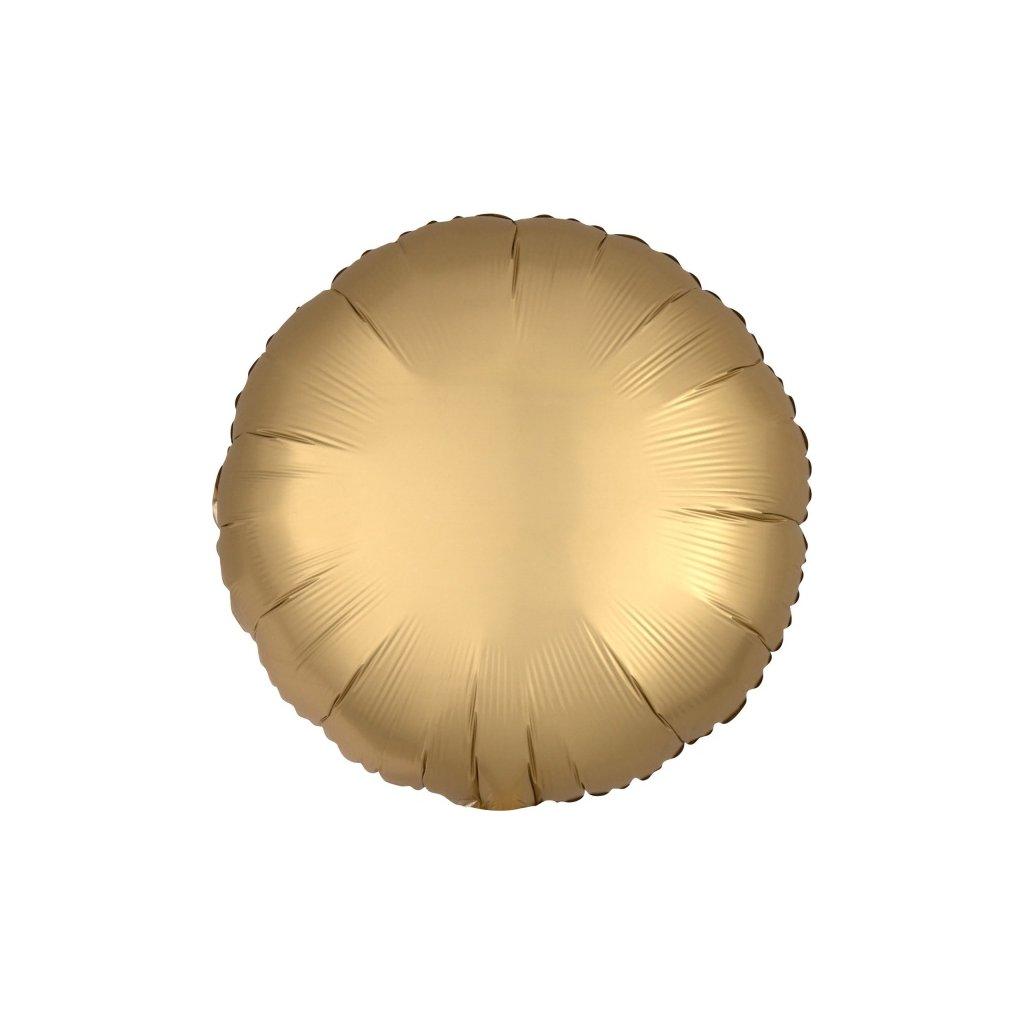 BALÓNEK fóliový Kruh zlatý 43cm