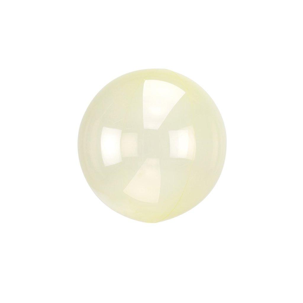 Balon kulatý Crystal Clearz ze speciální žluté mikrofolie 38x40 cm