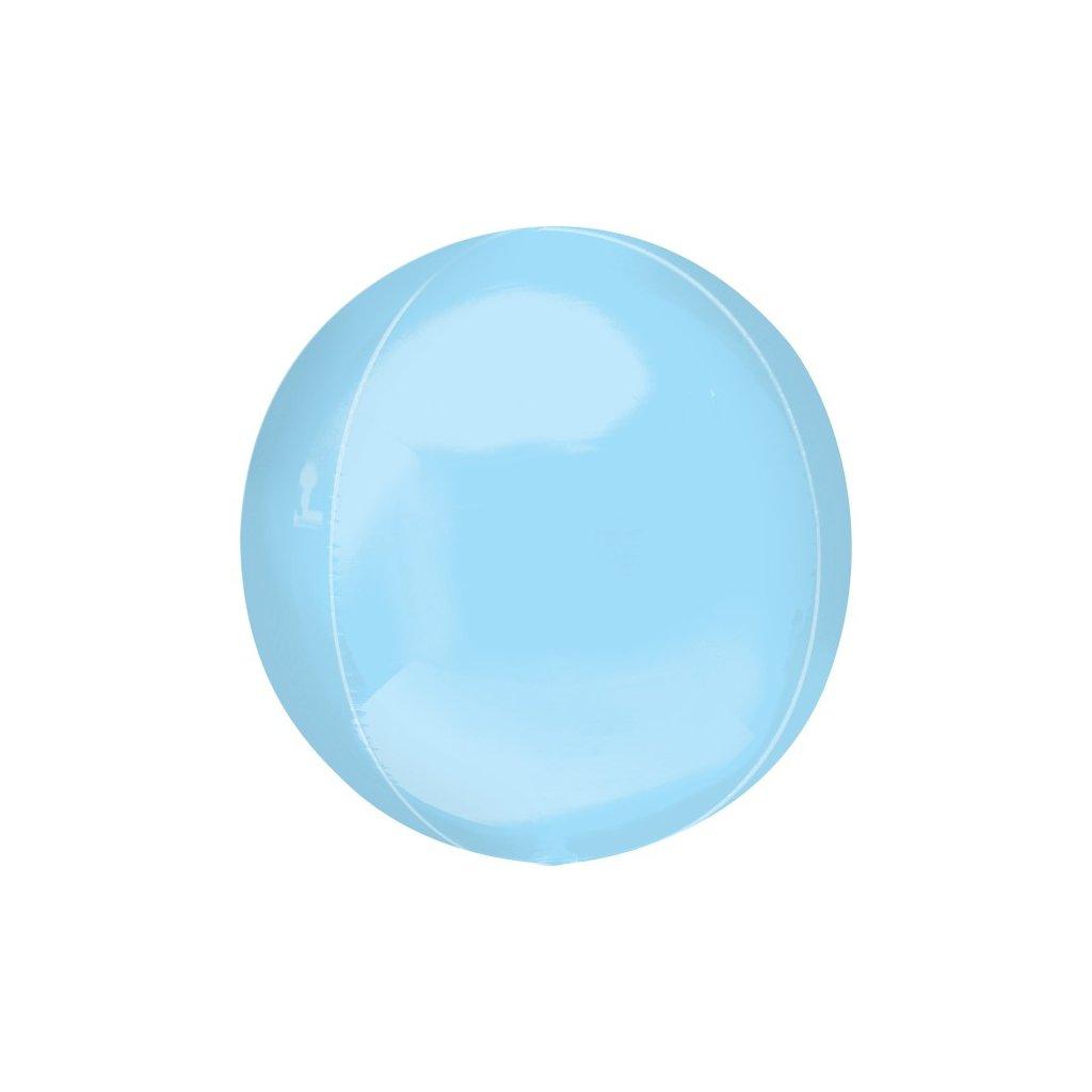 Balonek foliový koule ORBZ modrý 38x40 cm