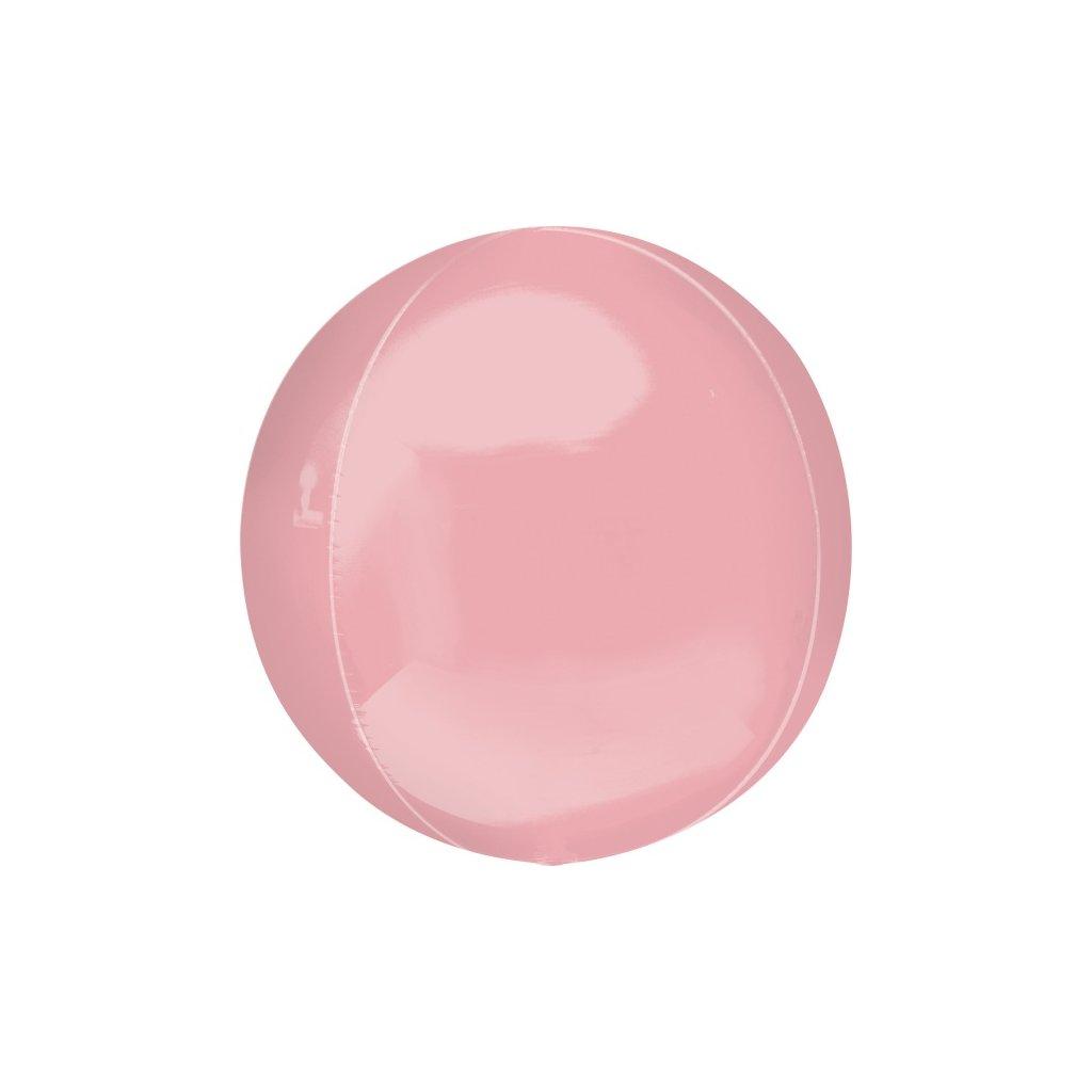Balonek foliový koule ORBZ rúžový 38x40 cm