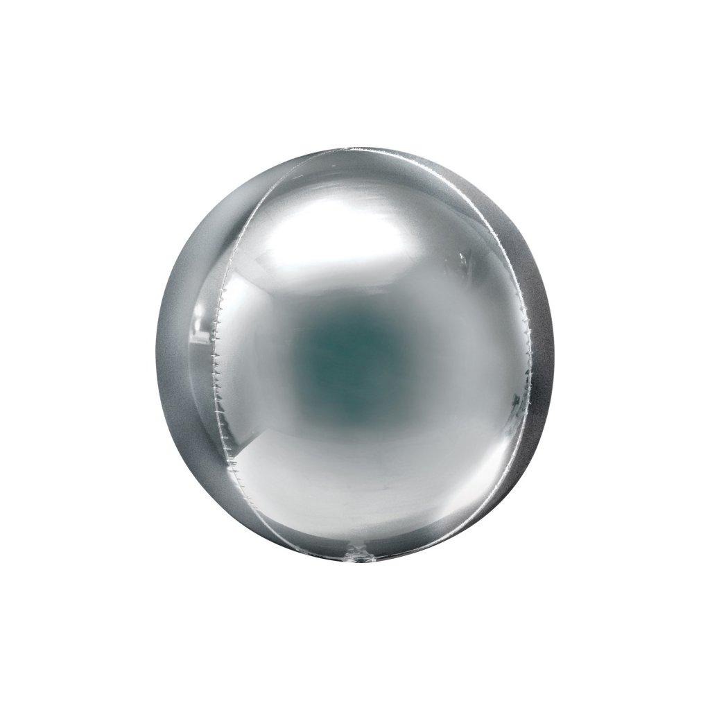 Balonek foliový koule ORBZ stříbrná 53 x 53 cm