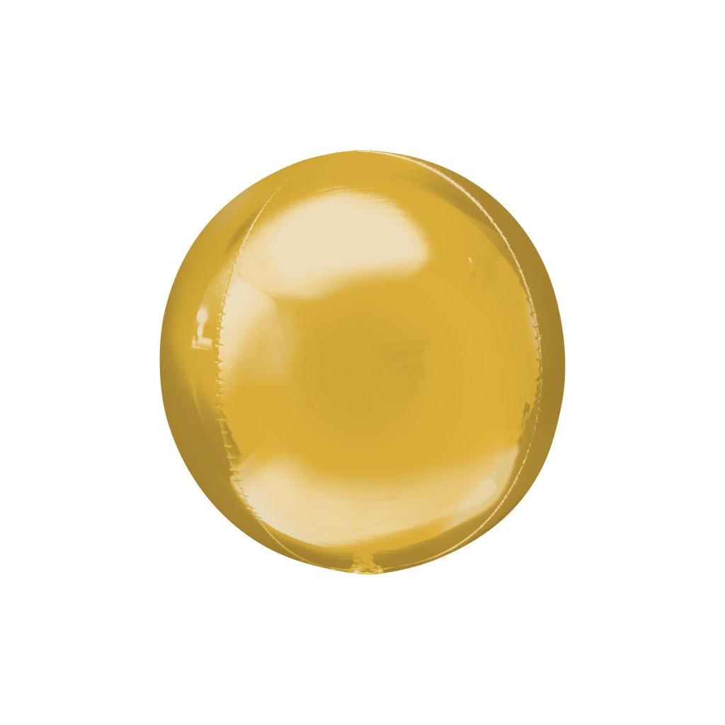 Balonek foliový koule ORBZ zlatá 53cm