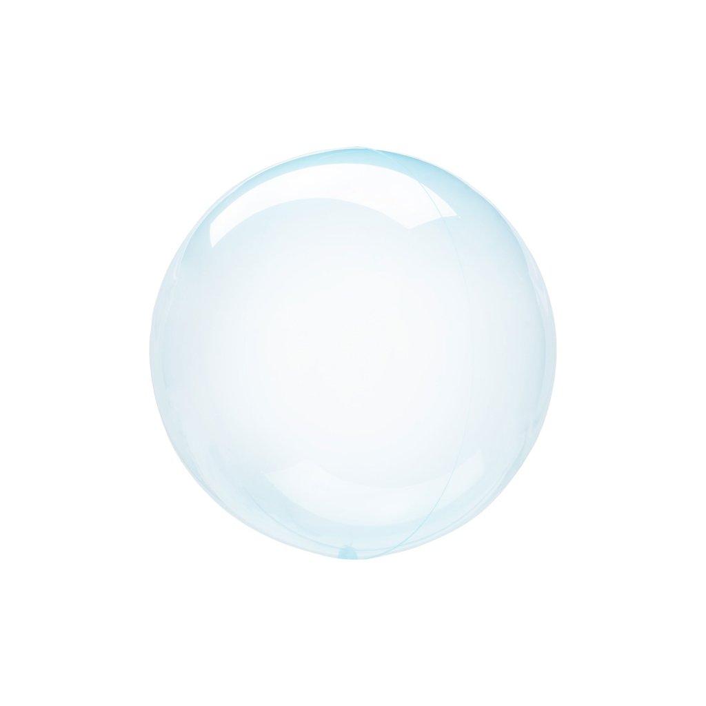 Balonek Bubbles transparentní  modrá 60 cm