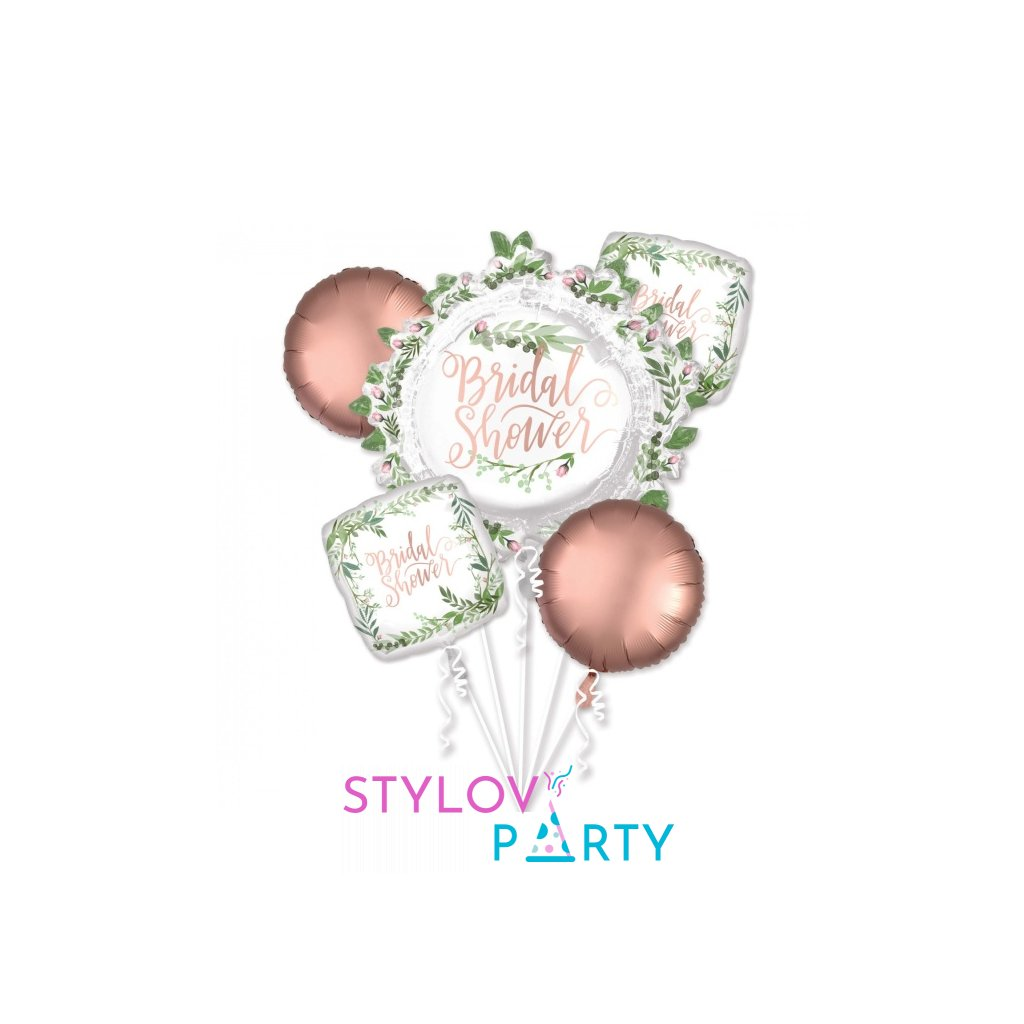 Buket foliových balonků Bridal Shower 5ks