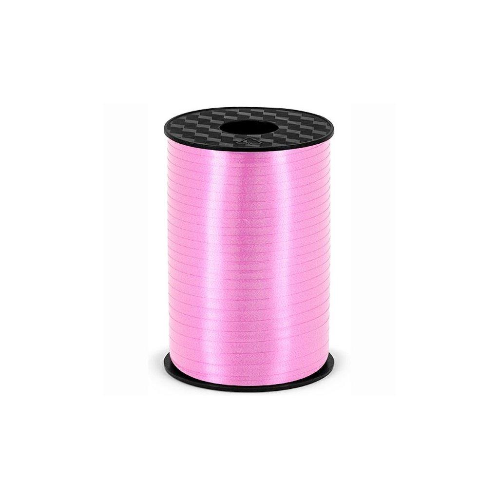 Stuha plastová vázací světle růžová 5mm/225m
