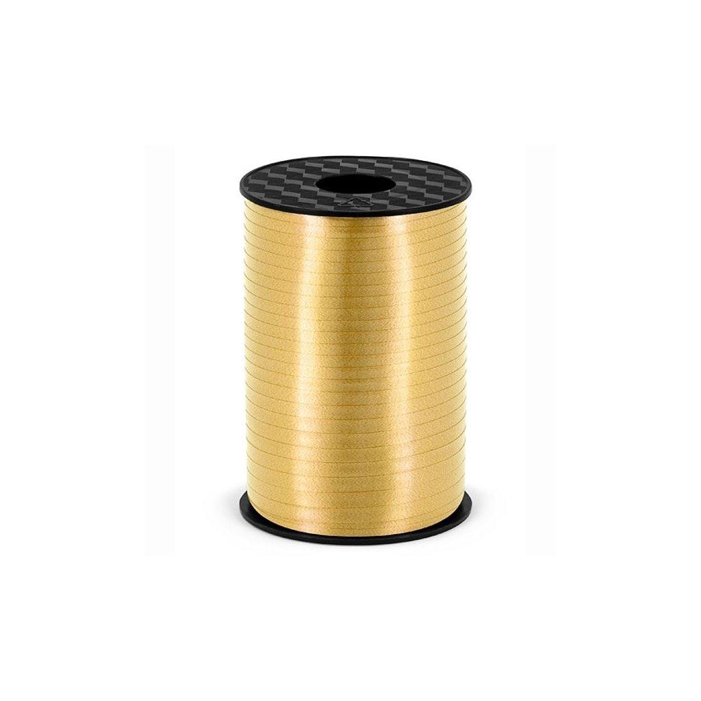 Stuha plastová vázací zlatá 5mm/225m