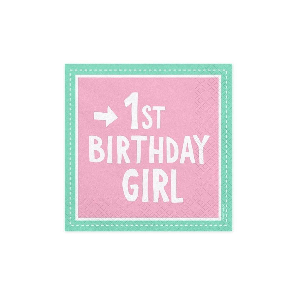 UBROUSKY 1st Birthday Girl 33x33cm 20ks