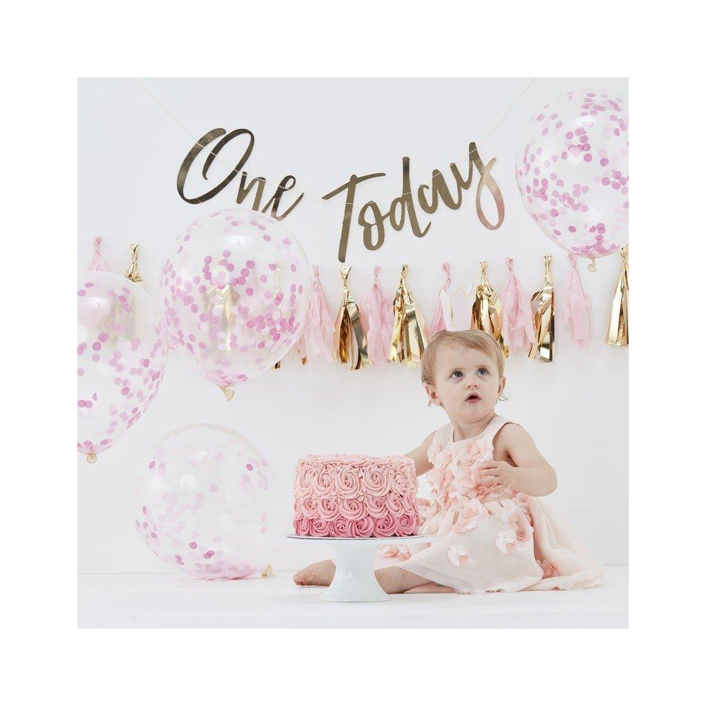 Sada 1. narozeniny růžovozlatá