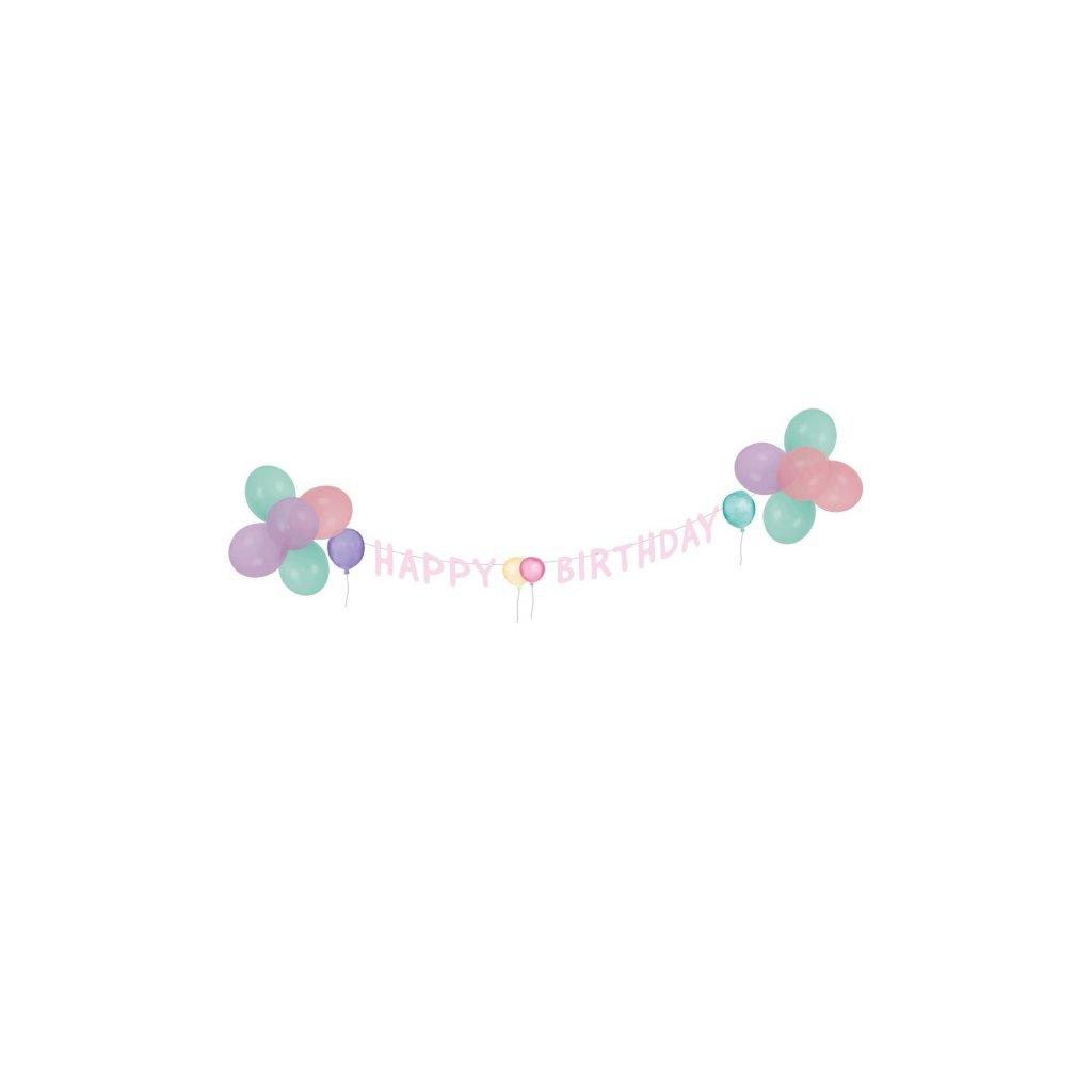 Sada narozeninová v pastelových barvách