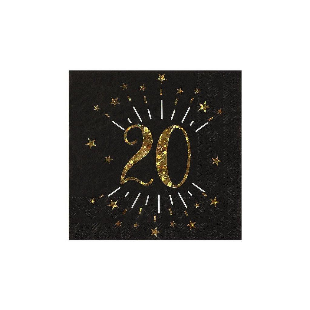 Ubrousky narozeninové 20 let 10ks