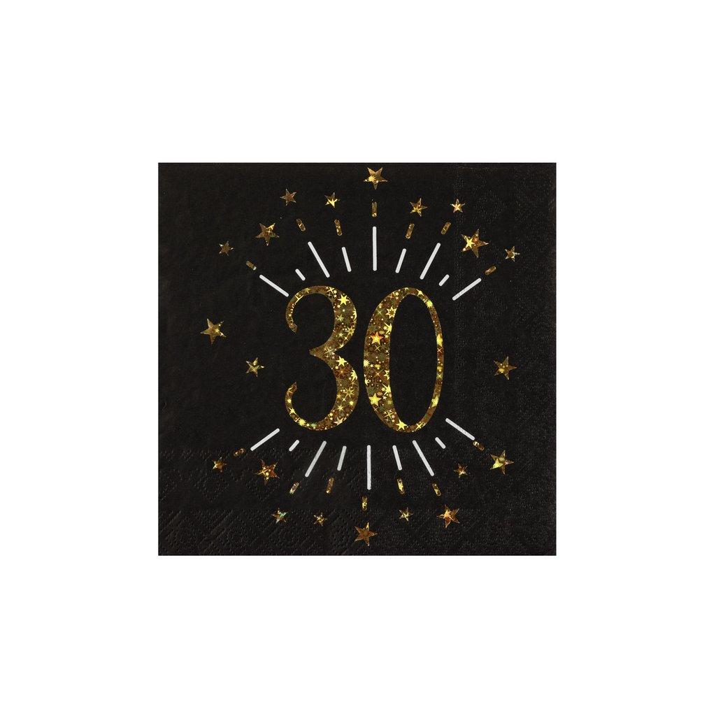 Ubrousky narozeninové 30 let 10ks
