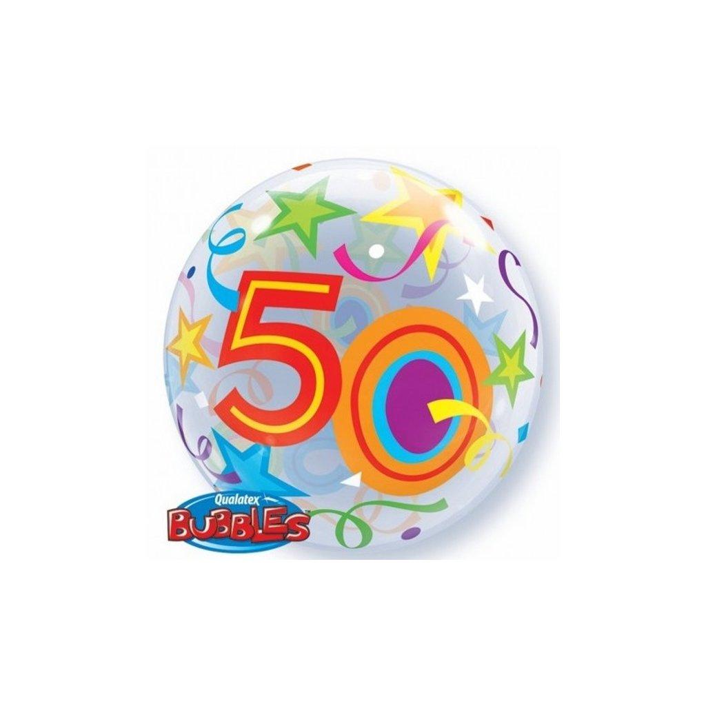 "Balonek Bubbles Happy Birthday ""50"" 56cm"