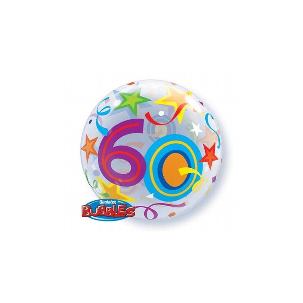 "Balonek Bubbles Happy Birthday ""60"" 56cm"