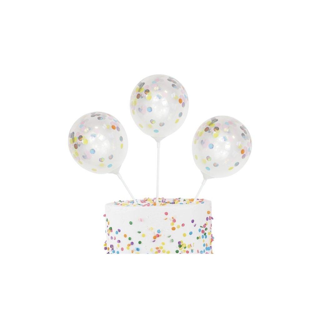 Balonky mini na dort 5ks
